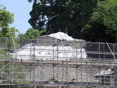 飯田丸五階櫓台の埋没石垣