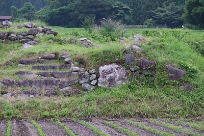 崩れている石垣