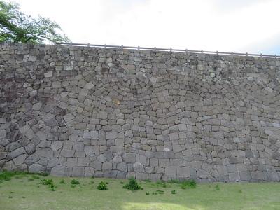 同心半円型落とし積みの石垣