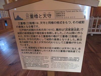 三重櫓と天守