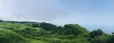 南端の曲輪からの眺望(パノラマ)