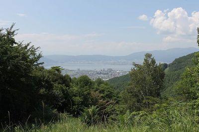 二郭から諏訪湖と高島城