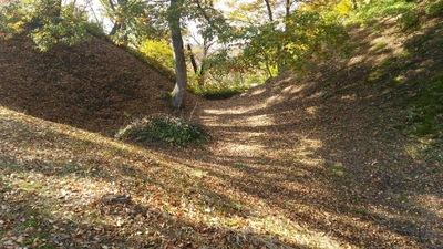 竪堀と横堀の合流地点