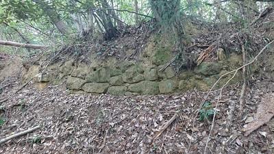 表門付近に残る石垣