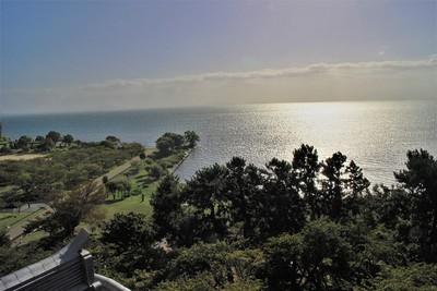 天守より琵琶湖を望む
