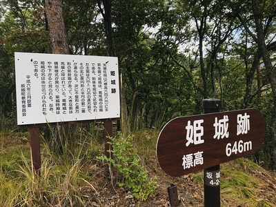 姫城跡の案内板
