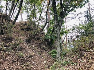 姫城北側の堀切