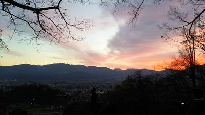 南曲輪から見る夜明け前の越前大野城 2