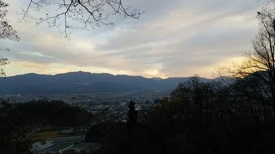 南曲輪から見る夜明け前の越前大野城 3