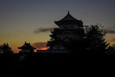 伊賀上野城 シルエット