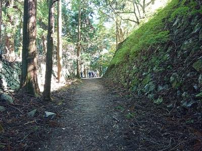 壺阪口から大手門への登城路