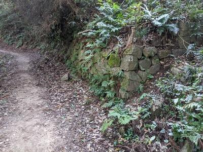 本丸下の東側石垣