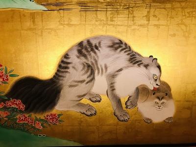 本丸御殿 麝香猫図(じゃこうねこず)