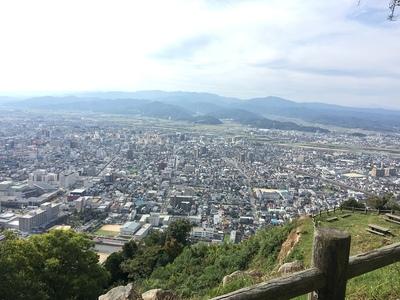 本丸跡から鳥取市街を見る