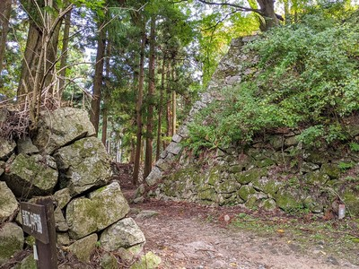 壺坂口中門と二の丸下段の石垣