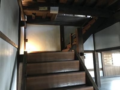 西北隅櫓 三階への階段