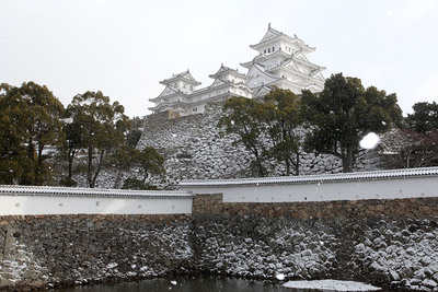 雪の三国掘[提供:姫路市]