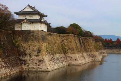 六番櫓(西側)と南外堀