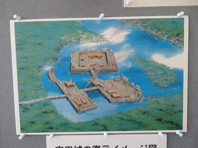 安田城復元イメージ