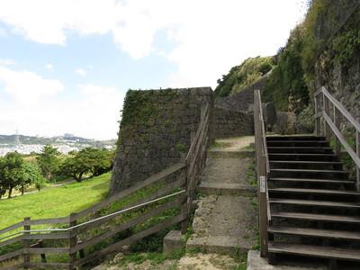 城壁と階段
