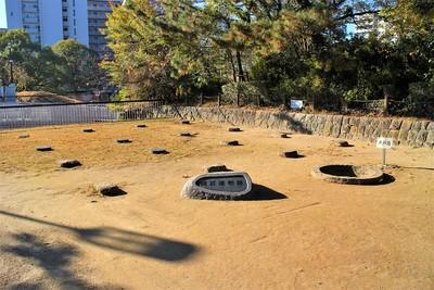 礎石建物跡と井戸