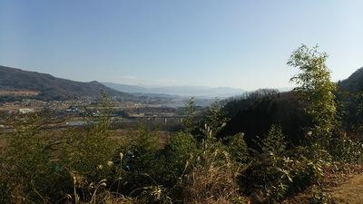 ささ郭から沼田城方向を見る