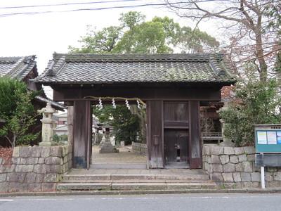本丸土橋門(膳所神社北門)