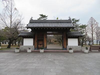 膳所城跡公園の復元門