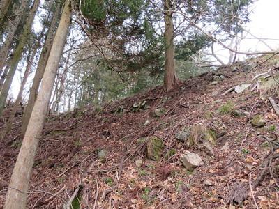 本丸東側登り石垣