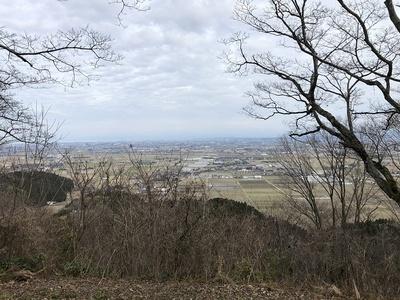 主郭址からの眺望(東側)