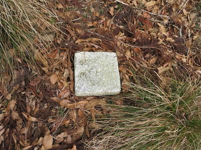 二ノ丸の正方形の石