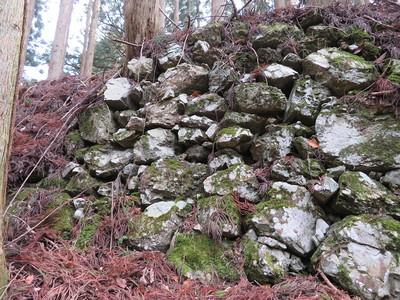 鷹屋ノ丸西側石垣
