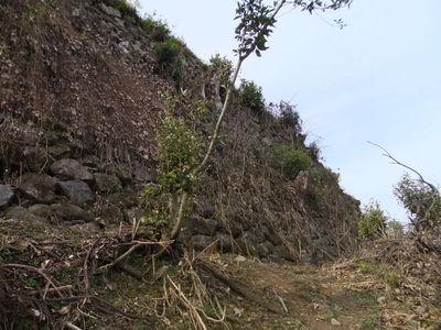 本丸東側の石垣
