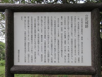 城跡説明板