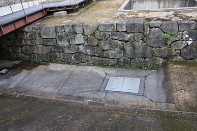 三の丸南の曲輪の石垣