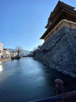 高島城① 凍てつく水堀