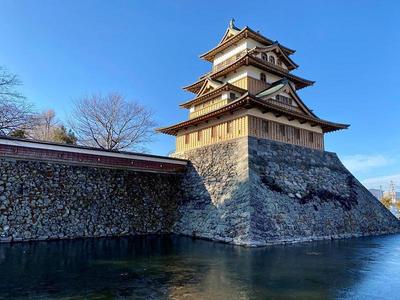 高島城② 日出ずる諏訪湖の高島城