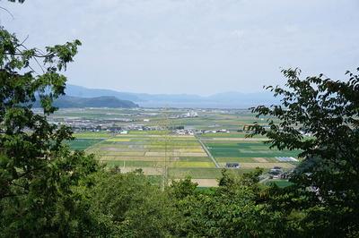 安土城⑧ 天守台から琵琶湖の眺望