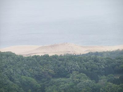 天守台から鳥取砂丘