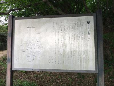 太閤ヶ平案内板