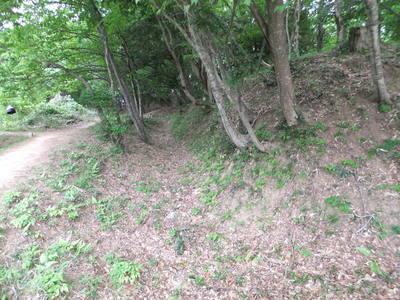 太閤ヶ平・空堀と土塁
