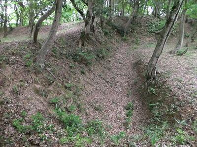太閤ヶ平・大手虎口の空堀