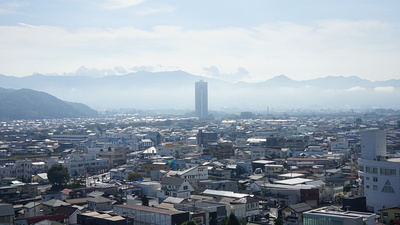 天守からの眺め(上山市街)