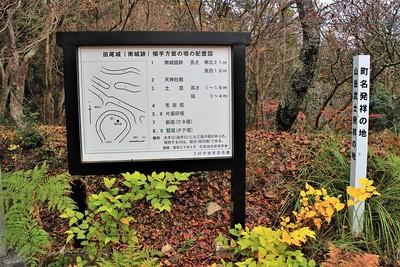 田尾城(南城跡)搦手方面の堀の配置図