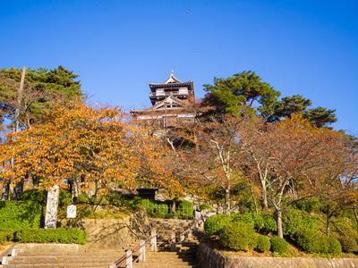 秋晴れの丸岡城
