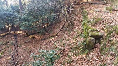 山城の名残である城砦化された時の石垣 1