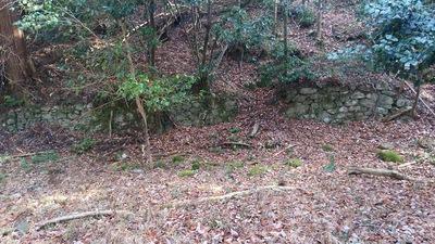 山城の名残である城砦化された時の石垣 2