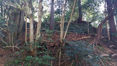 山城の名残である城砦化された時の石垣 3