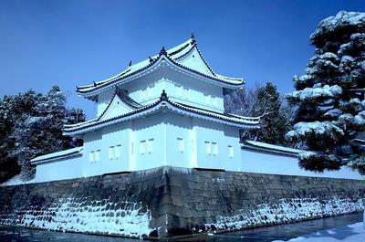 雪の東南隅櫓