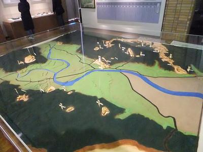 三木城合戦の復元模型